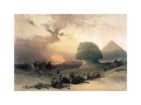 Framed Approach of the Simoom-Desert of Giza from Egypt and Nubia Print