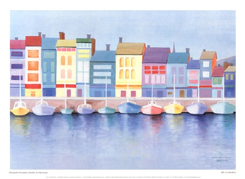 Framed Harbor In Harmony Print