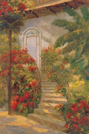 Framed Bougainvillea Entry Print