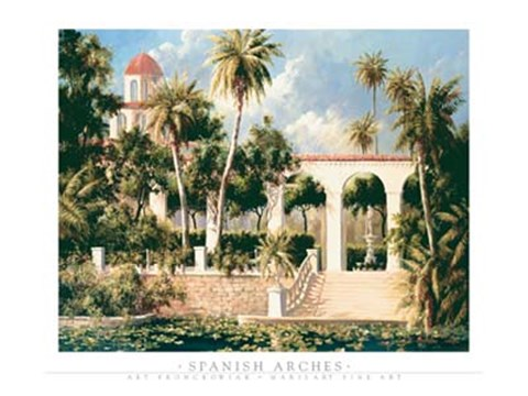 Framed Spanish Arches Print
