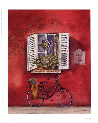 Framed French Bicycle III Print