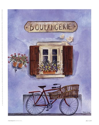 Framed French Bicycle IV Print