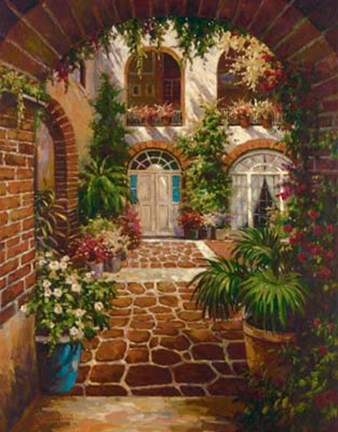 Framed Courtyard Vista Print