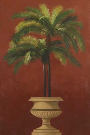 Framed Potted Palm Red III Print