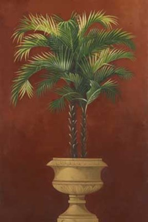 Framed Potted Palm Red IV Print