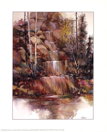 Framed Rainbow Falls - Mini Print
