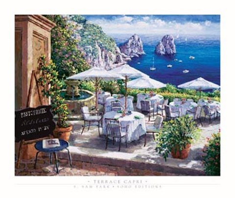Framed Terrace Capri Print