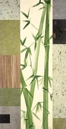 Framed Collage With Bamboo I Print