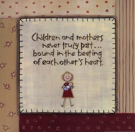 Framed Children And Mothers Print