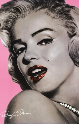 Framed Marilyn Monroe - Lips Print