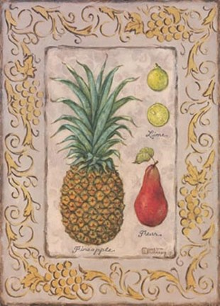 Framed Tropical Fruit II Print