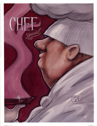 Framed Chef Special Print