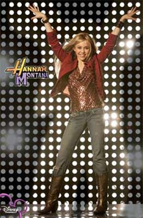 Framed Hannah Montana - Arms in the Air Print