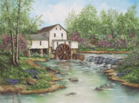 Framed Pigeon Hollow Mill Print