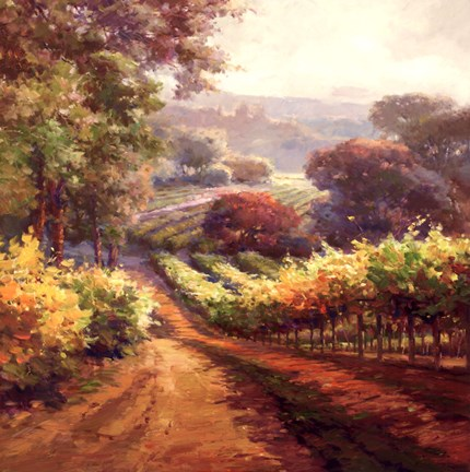 Framed Vineyard Way Print