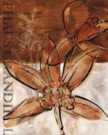 Framed Rusty Orchid I Print