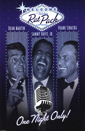 Framed Rat Pack - One Night Only Print