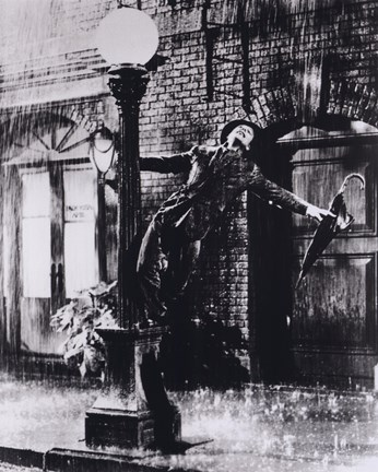 Framed Gene Kelly singing in the Rain Print