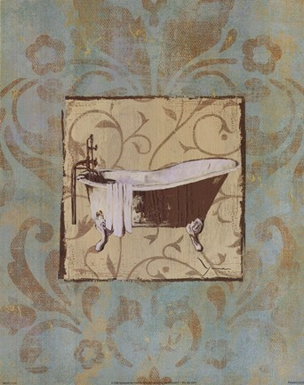 Framed Bathtub Parfum II Print
