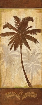 Framed Elegant Palm I Print