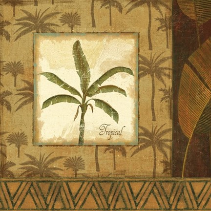 Framed Palmier Tropical II Print