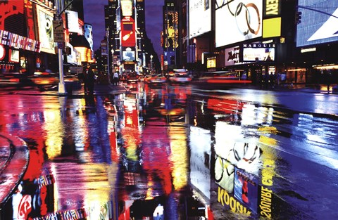 Framed Times Square Colors Print