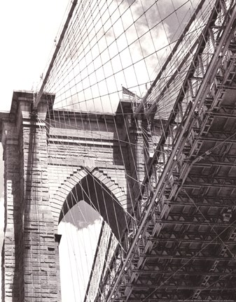 Framed Under the Brooklyn Bridge Print
