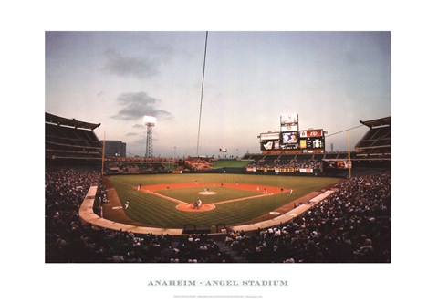 Framed Anaheim, Angel Stadium Print