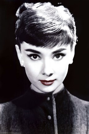 Framed Audrey Hepburn - Red Lips Print