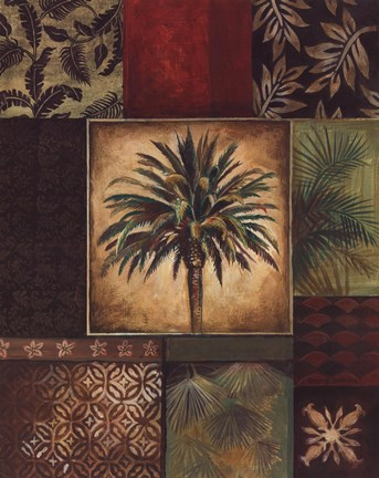 Framed Palm Collage I Print
