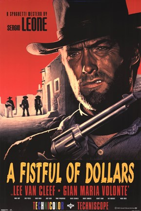 Framed Fistful of Dollars Print