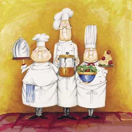 Framed Chef Trio Print
