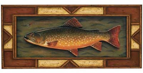 Framed Brook Trout Print