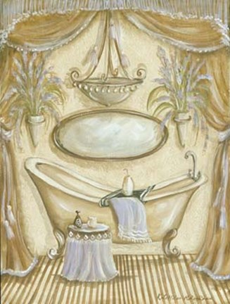 Framed Charming Bath II Print
