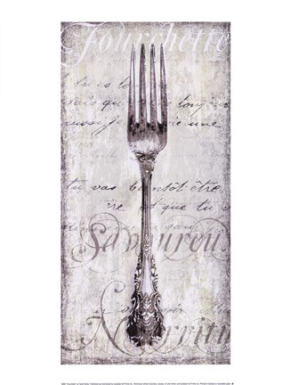 Framed Decorative Fork Print