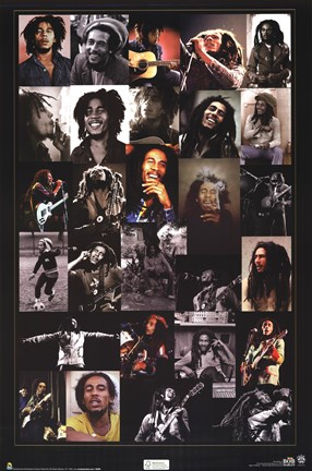 Framed Bob Marley - Collage Print