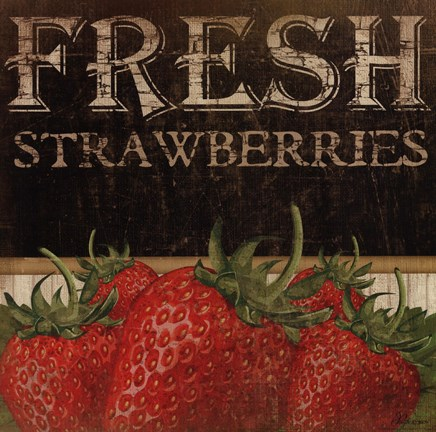 Framed Fresh Strawberries Print