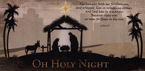 Framed Oh Holy Night Print