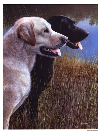 Framed Hunting Companions Print