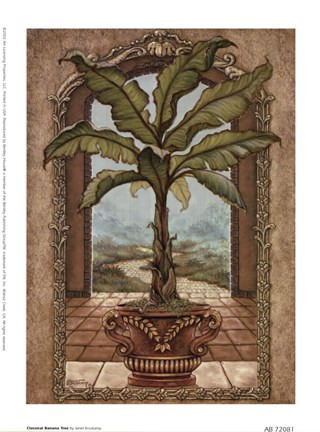 Framed Classical Banana Tree Print