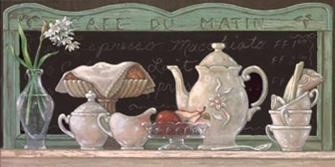 Framed Cafe Du Matin Print