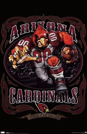 Framed Cardinals - Running Back 10 Print