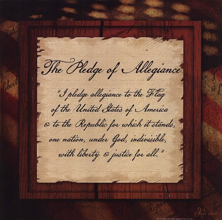 Framed Pledge of Allegiance Print
