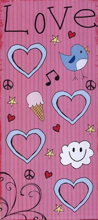 Framed Love - Ice Cream Tall Print
