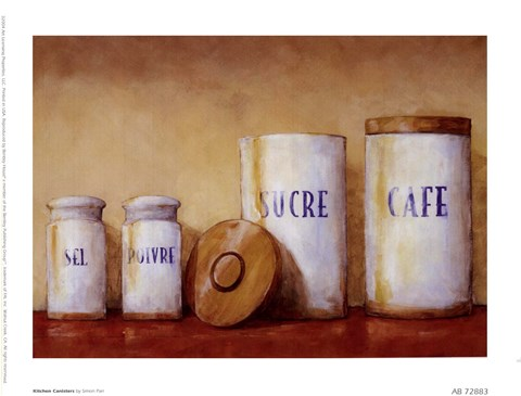 Framed Kitchen Canisters Print