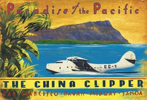 Framed China Clipper Print