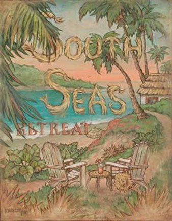 Framed South Seas Retreat Print
