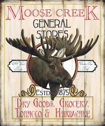 Framed Moose Creek General Store Print