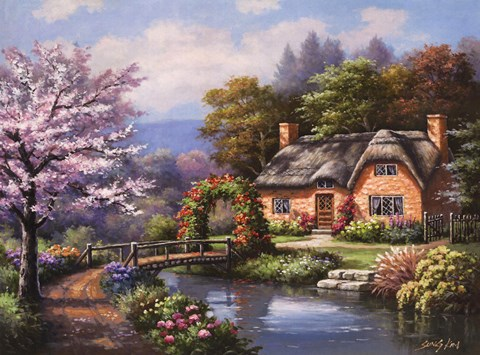Framed Spring Creek Cottage Print