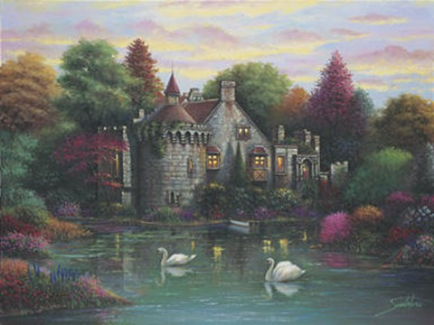 Framed Hidden Lake Chateau Print
